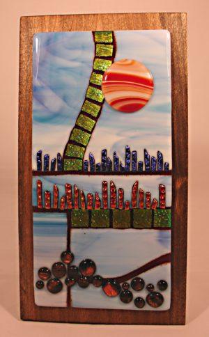 Sun City – Fused Glass Wall Art #WM51
