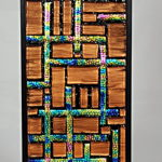 Fused Glass A-Maze-Ing Wall Hanging – #WL129
