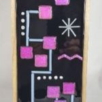 Mid-Century Fused Glass Wall Hanging – #WL133