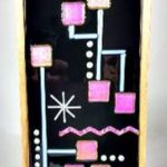 Mid-Century Fused Glass Wall Hanging – #WL134