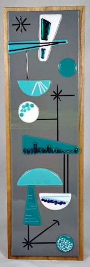 Mid-Century Fused Glass Wall Hanging – #WL135