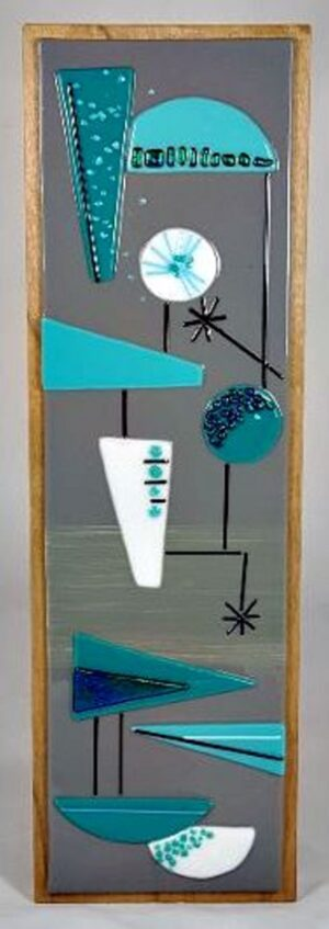 Mid-Century Fused Glass Wall Hanging – #WL136