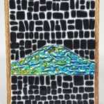 Fused Glass Abstract Mountain – #WS225