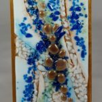 Eclectic Blues Fused Glass Art – #WM110