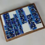 Blue Abstract Fused Glass Art – #WS264